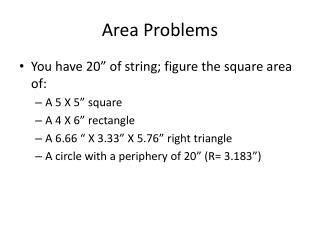 Area Problems