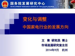 变化与调整                  中国家电行业的发展方向