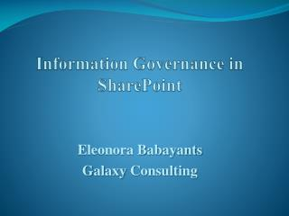 Information Governance in SharePoint