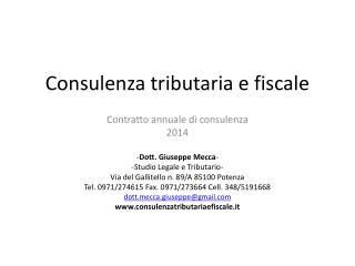 Consulenza tributaria e fiscale