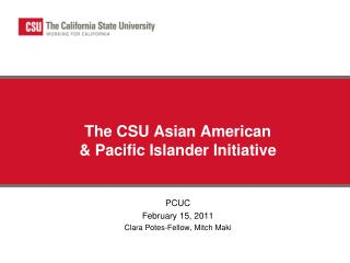 The CSU Asian American & Pacific Islander Initiative