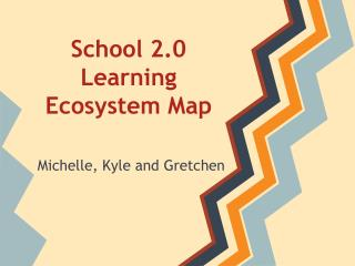 School 2.0 Learning Ecosystem Map