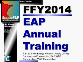 FFY2014  EAP Annual Training