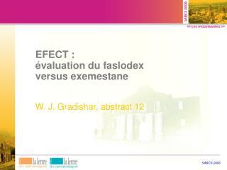 EFECT : évaluation du faslodex versus exemestane