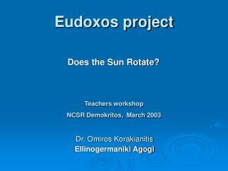 Eudoxos project