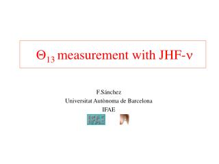 Q 13 measurement with JHF- n