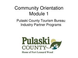 Community Orientation Module 1