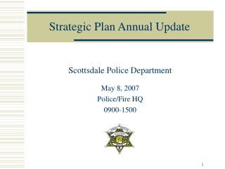 Strategic Plan Annual Update