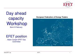 Day ahead capacity Workshop Bonn 9 February