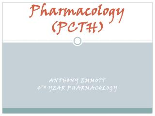Pharmacology (PCTH)