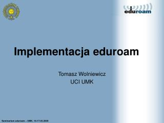Implementacja eduroam