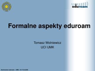 Formalne aspekty eduroam