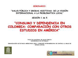 """SEMINARIO: """"SALUD PÚBLICA Y DROGAS ADICTIVAS: DE LA VISIÓN INTERNACIONAL A LA PROBLEMÁTICA LOCAL"""""""