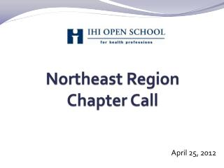 Northeast Region Chapter Call