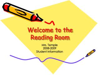 Welcome to the Reading Room