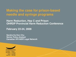 Making the case for prison-based needle and syringe programs