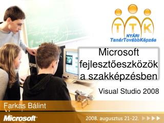 Microsoft fejlesztőeszközök a szakképzésben