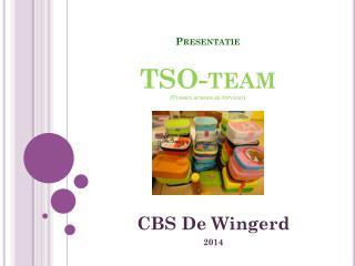 Presentatie TSO-team (Tussen schoolse Opvang)