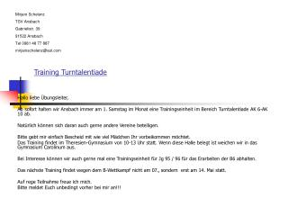 Training Turntalentiade