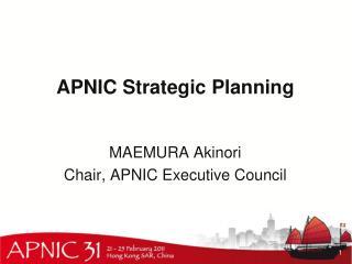 APNIC Strategic Planning