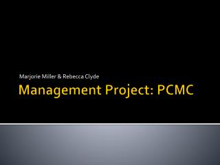 Management Project: PCMC