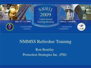 NMMSS Refresher Training