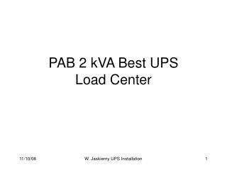 PAB 2 kVA Best UPS Load Center