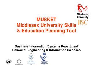 MUSKET MiddlesexUniversity Skills & Education Planning Tool