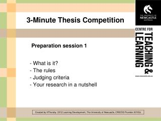 3-Minute Thesis Competition