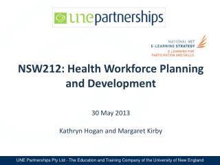NSW212: Health Workforce Planning and Development