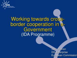 Working towards cross-border cooperation in e-Government (IDA Programme)