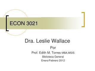 ECON 3021