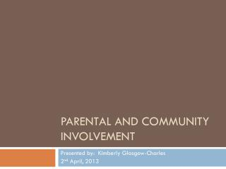 Parental and Community Involvement