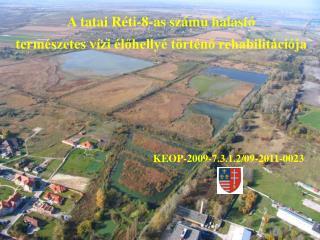 A tatai Réti-8-as számú halastó természetes vízi élőhellyé történő rehabilitációja
