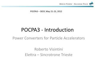 POCPA3 - Introduction