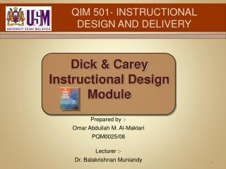 QIM 501- INSTRUCTIONAL DESIGN AND DELIVERY