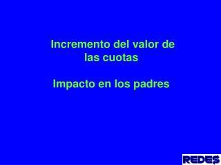 Incremento del valor de las cuotas Impacto en los padres
