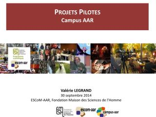 Projets Pilotes Campus AAR