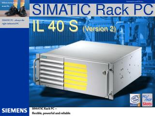 SIMATIC Rack PC  IL 40 S  (Version 2)