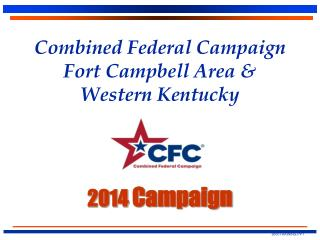Combined Federal Campaign Fort Campbell  Area & Western Kentucky   2014  Campaign