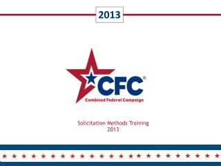 Solicitation Methods Training 2013