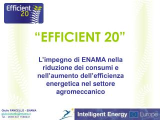 """EFFICIENT 20"""