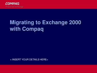 Migrating to Exchange 2000 with Compaq