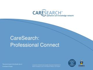 CareSearch: Professional Connect