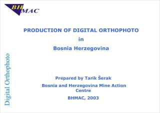 PRODUCTION OF DIGITAL ORTHOPHOTO in Bosnia Herzegovina