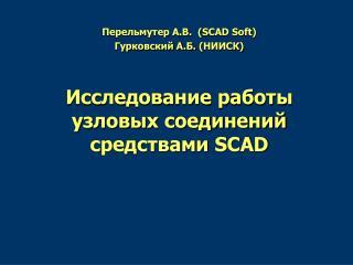 Перельмутер А.В. ( SCAD Soft) Гурковский А.Б. ( НИИСК)
