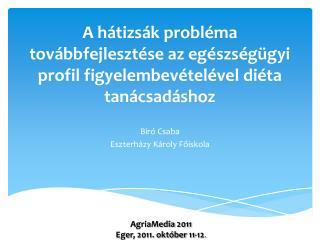 Biró Csaba Eszterházy Károly Főiskola