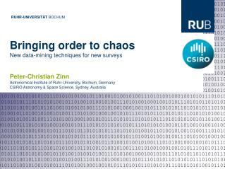 Bringing order to chaos New data-mining techniques for new surveys