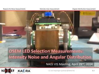 OSEM LED Selection Measurements: Intensity Noise and Angular Distribution