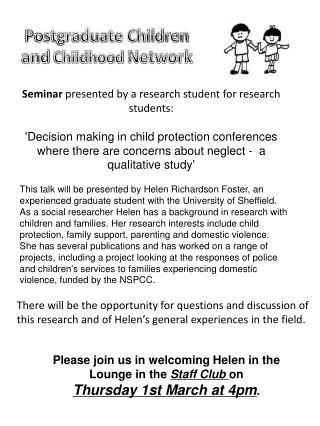Postgraduate Children and Childhood Network